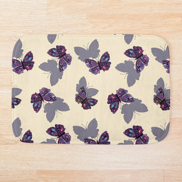 Shadow Butterfly Bath Mat