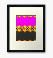 Lovely pink orange and yellow with black. Framed Print