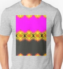 Lovely pink orange and yellow with black. Unisex T-Shirt
