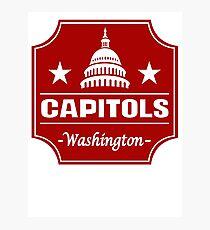 DEFUNCT - WASHINGTON CAPITOLS Photographic Print