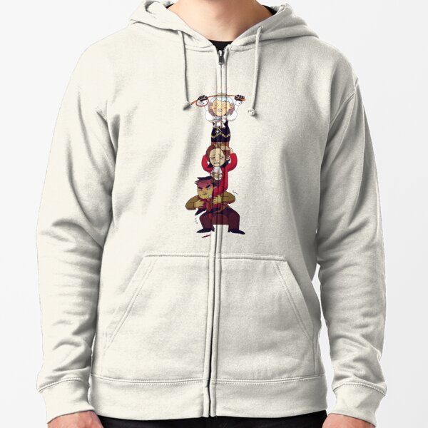 hierarchy Zipped Hoodie