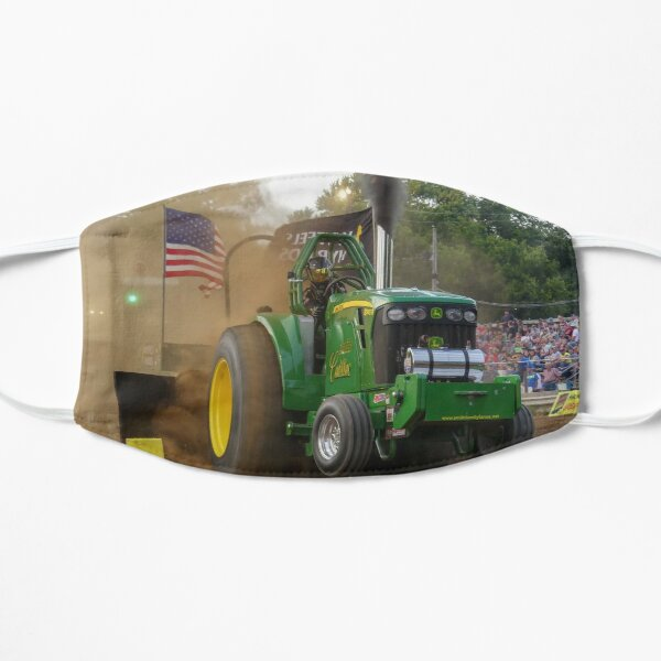 Cornfield Cadillac John Deere Tracteur tirant Masque sans plis
