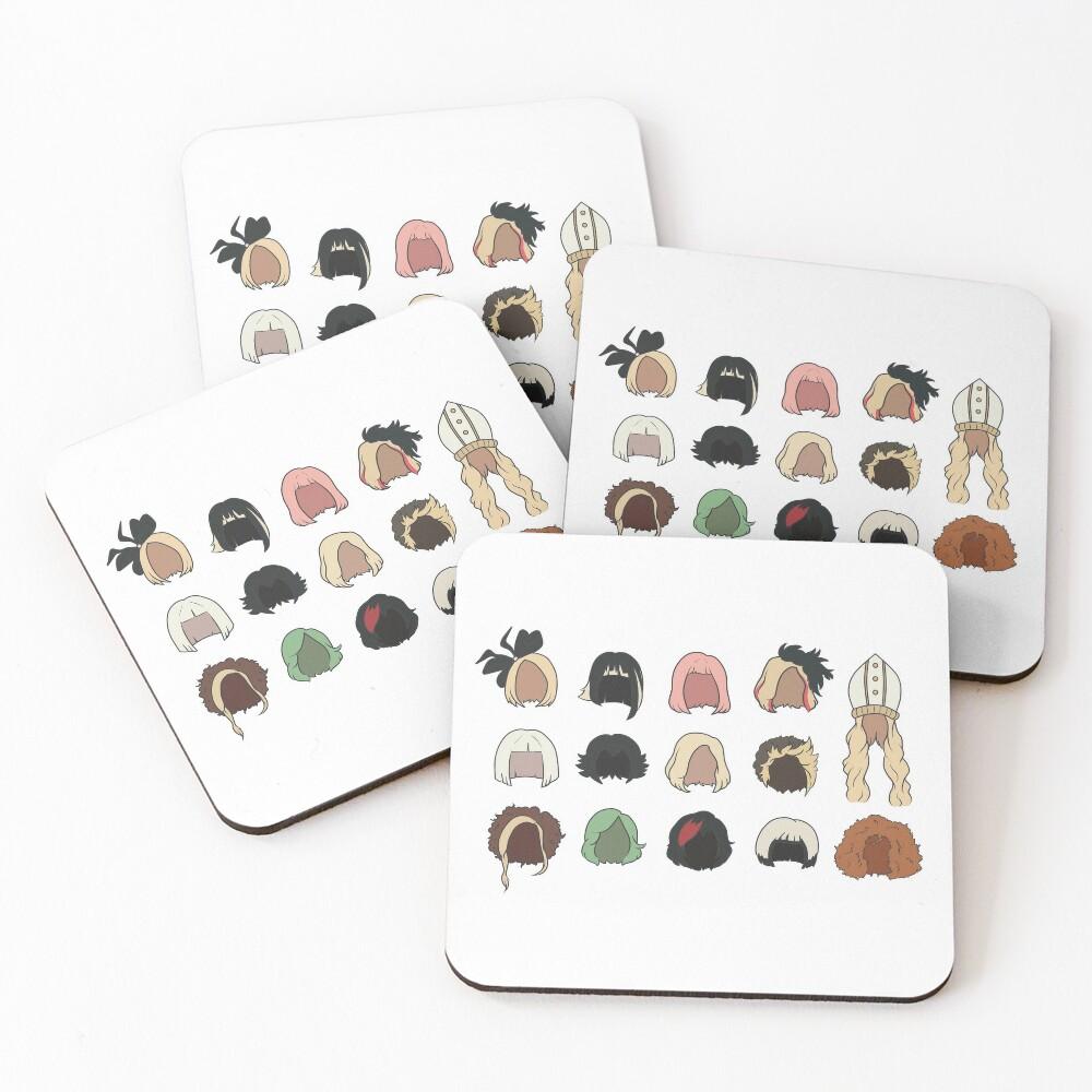 Moira's Wigs Pattern Coasters (Set of 4)