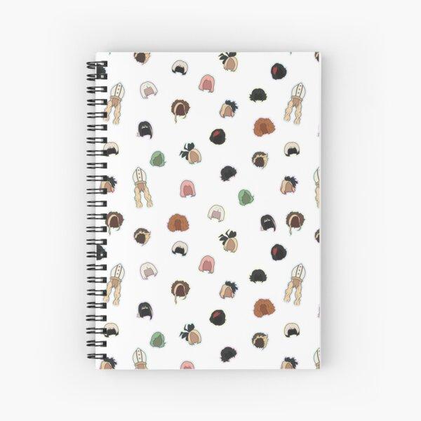Moira's Wigs Pattern Spiral Notebook