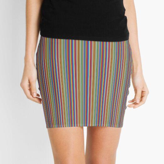 color lines Mini Skirt