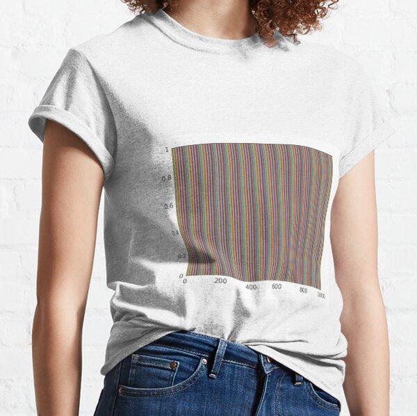 Vertical Color Lines Diagram Classic T-Shirt