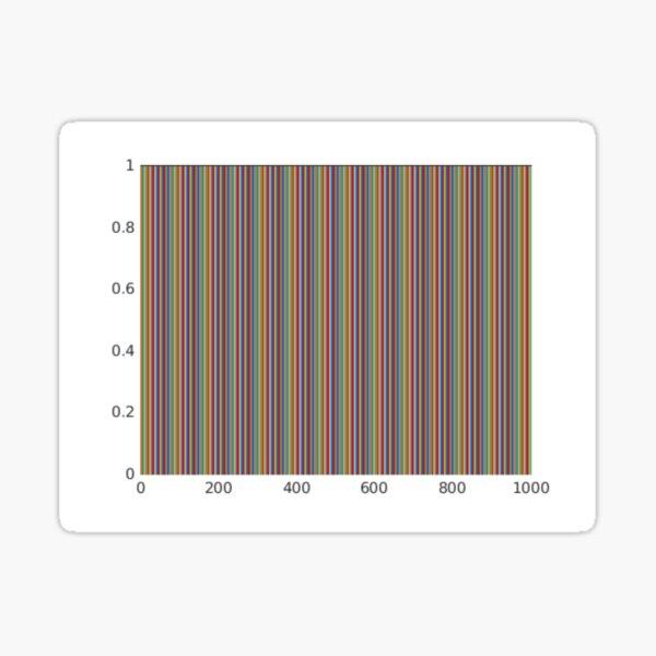 Vertical Color Lines Diagram Sticker