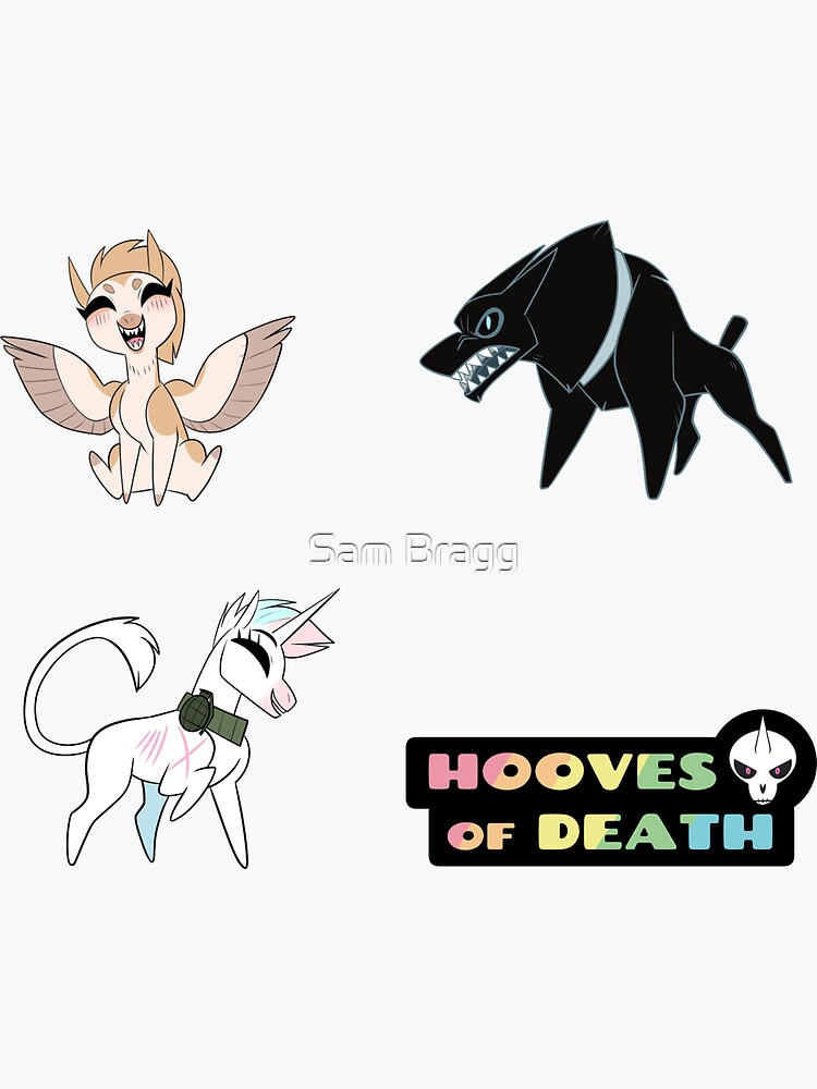 Hooves of Death Stickers by sammin-art