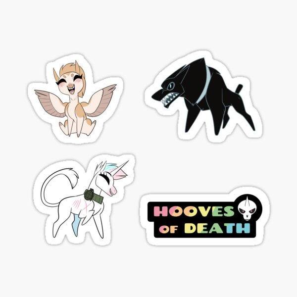 Hooves of Death Stickers Sticker