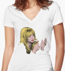 I'm unhappy, Maurice. Women's Fitted V-Neck T-Shirt