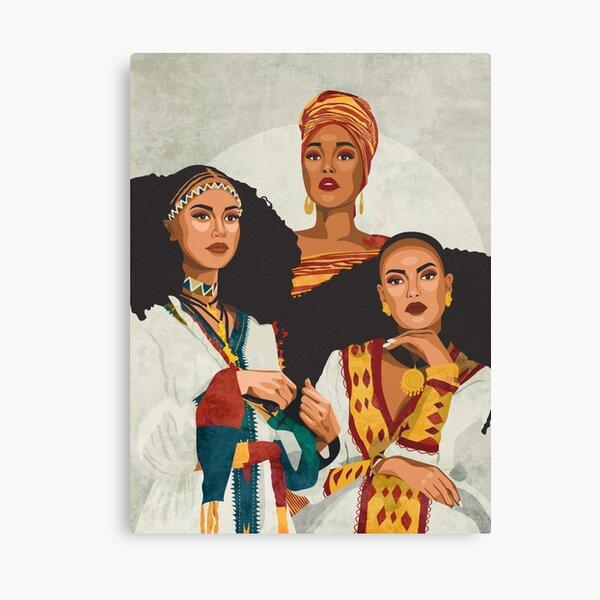 Trio africain Impression sur toile