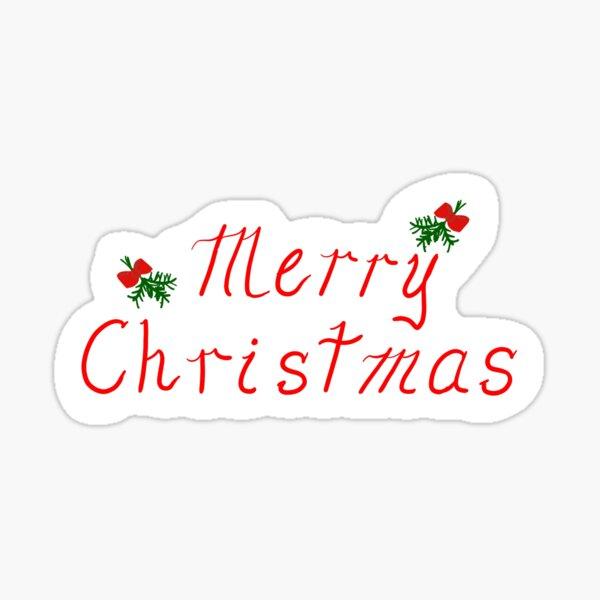 Merry Christmas Sticker Sticker