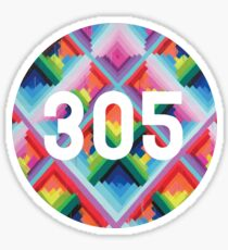 305 miami wynwood walls Sticker