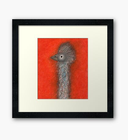 Emu Stance Framed Print