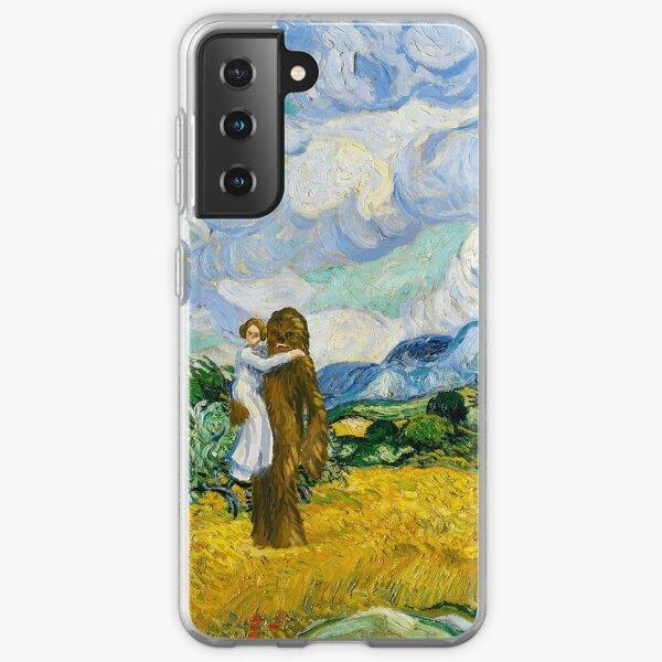 Leia and Chewbacca in Wheat Field Samsung Galaxy Soft Case