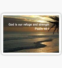 Psalm 46:1  print & pearl pattern     (5512 Views)  Sticker