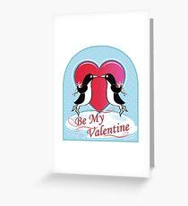 Love Penguins Valentine Greeting Card