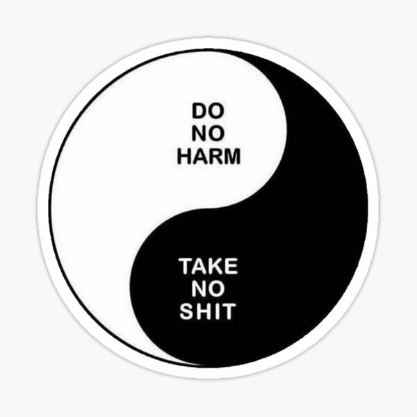 Do no harm Take no shit Sticker
