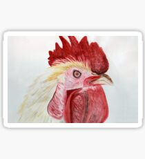 Expressive Rooster Sticker