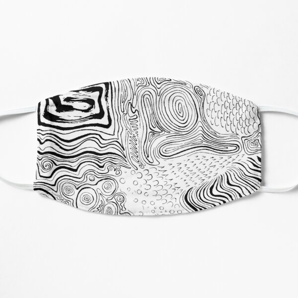 Abstract Ink Flat Mask