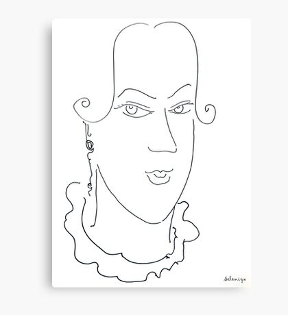 Abstract sketch of face XIII Canvas Print