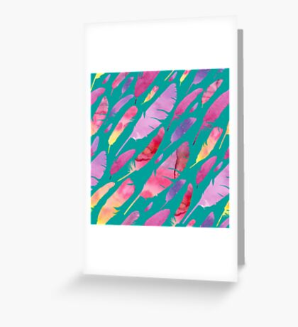 - Watercolor feathers - Greeting Card