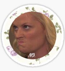 Grumpy Leslie Knope  Sticker