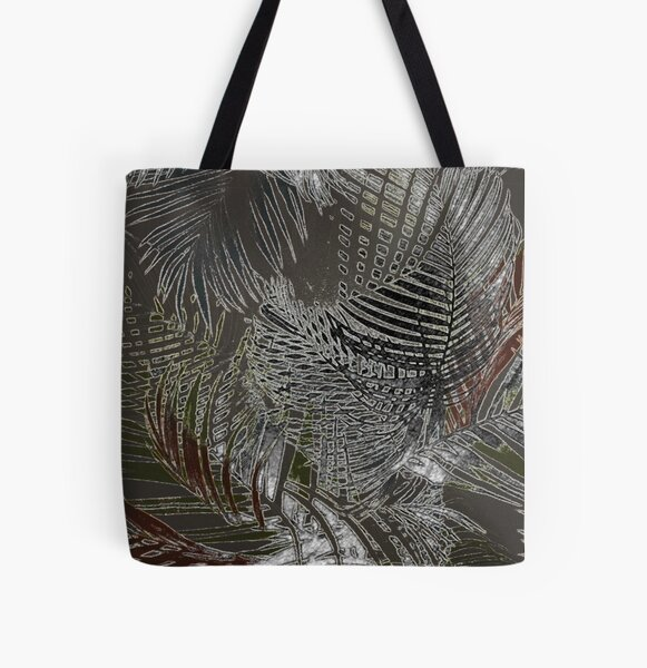 Palm design - rust All Over Print Tote Bag