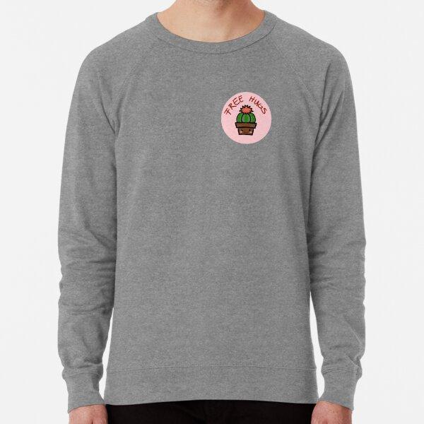 cute cactus - free hugs - sarcasm  Lightweight Sweatshirt