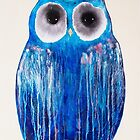 Medicine Wheel Owl by Julie  Sutherland
