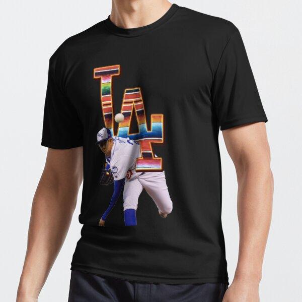 Julio Urias Los angeles latino pride sarape LA mookie betts corey seager justin turner kike hernandez and cody  bellinger bleed blue itfdb fan art Active T-Shirt