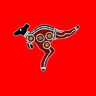 Aboriginal Art Kangaroo by HogarthArts