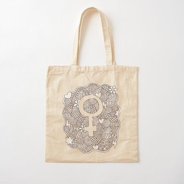 Símbolo femenino Bolsa de algodón