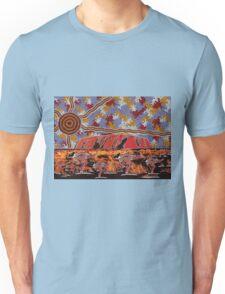 Uluru | Ayers Rock - Authentic Aboriginal Arts Unisex T-Shirt