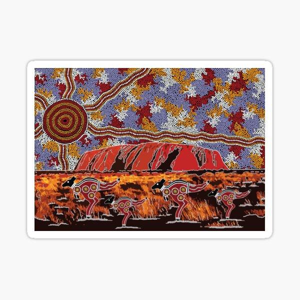 Authentic Aboriginal Art - Uluru | Ayers Rock Sticker