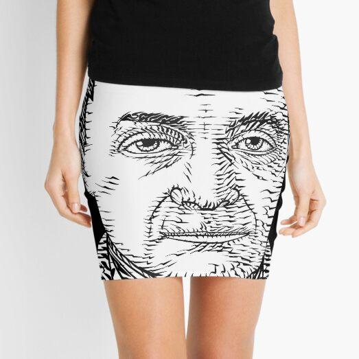 AUGUSTE COMTE ink portrait Mini Skirt