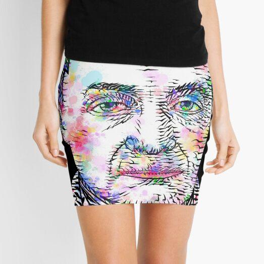 AUGUSTE COMTE watercolor and ink portrait Mini Skirt