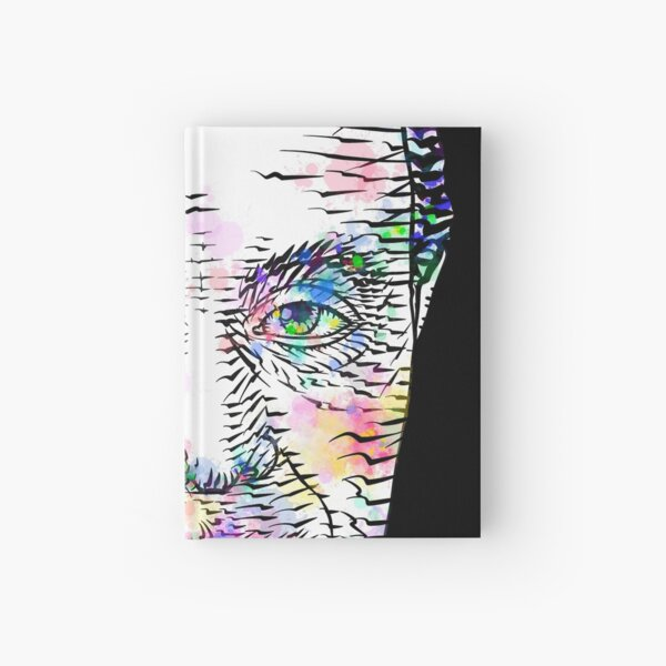AUGUSTE COMTE watercolor and ink portrait Hardcover Journal