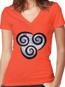 Airbending - Avatar the Last Airbender Women's Fitted V-Neck T-Shirt