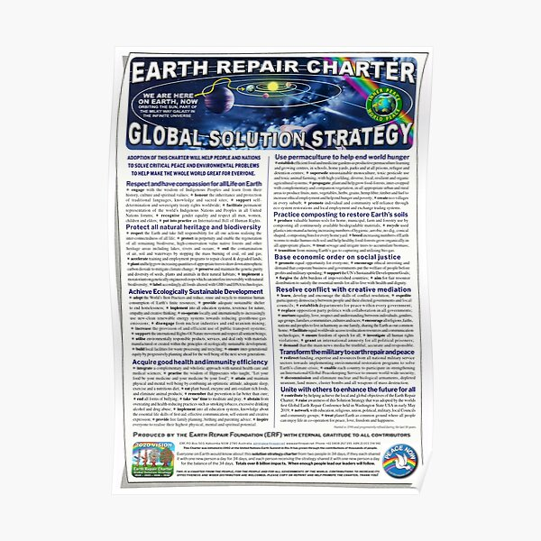 Earth Repair Charter Global Solution Strategy Poster
