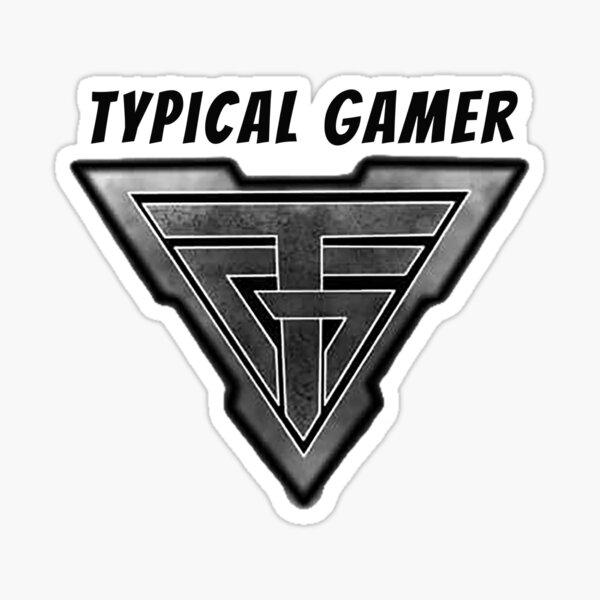 Typical gamer logo Sticker