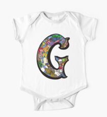 Doodle Letter G One Piece - Short Sleeve
