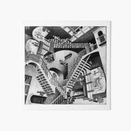 MC Escher Relativity I 1953 Artwork Reproduction for Posters Prints Tshirts Men Women Kids Art Board Print