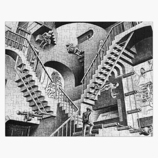 MC Escher Relativity I 1953 Artwork Reproduction for Posters Prints Tshirts Men Women Kids Jigsaw Puzzle