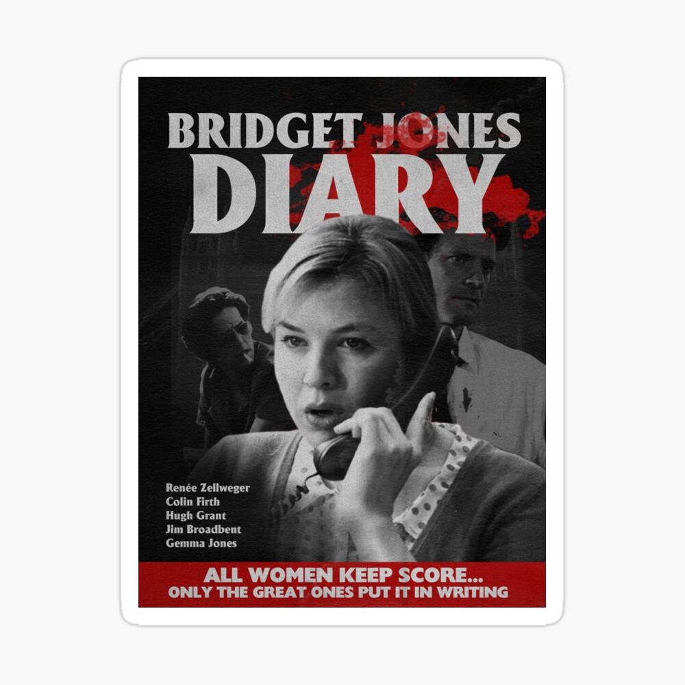 Bridget Jones Diary 2001 Classic Horror Design Poster By Mariaderdesign Redbubble