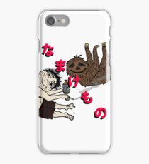 Stoner sloth in Japanese iPhone Case/Skin