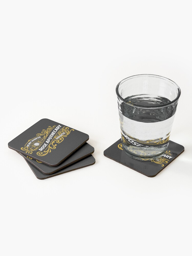 Alternate view of Rose Apothecary  Schitts Creek, schittscreek Coasters (Set of 4)