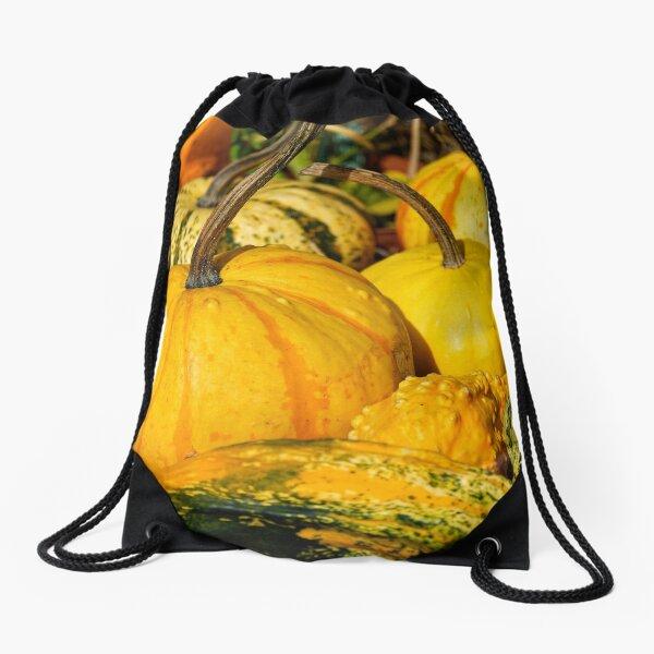 Colorful Pumpkins Drawstring Bag