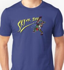 Oldies Ski or Die - Retro Pixel DOS game fan shirt T-Shirt