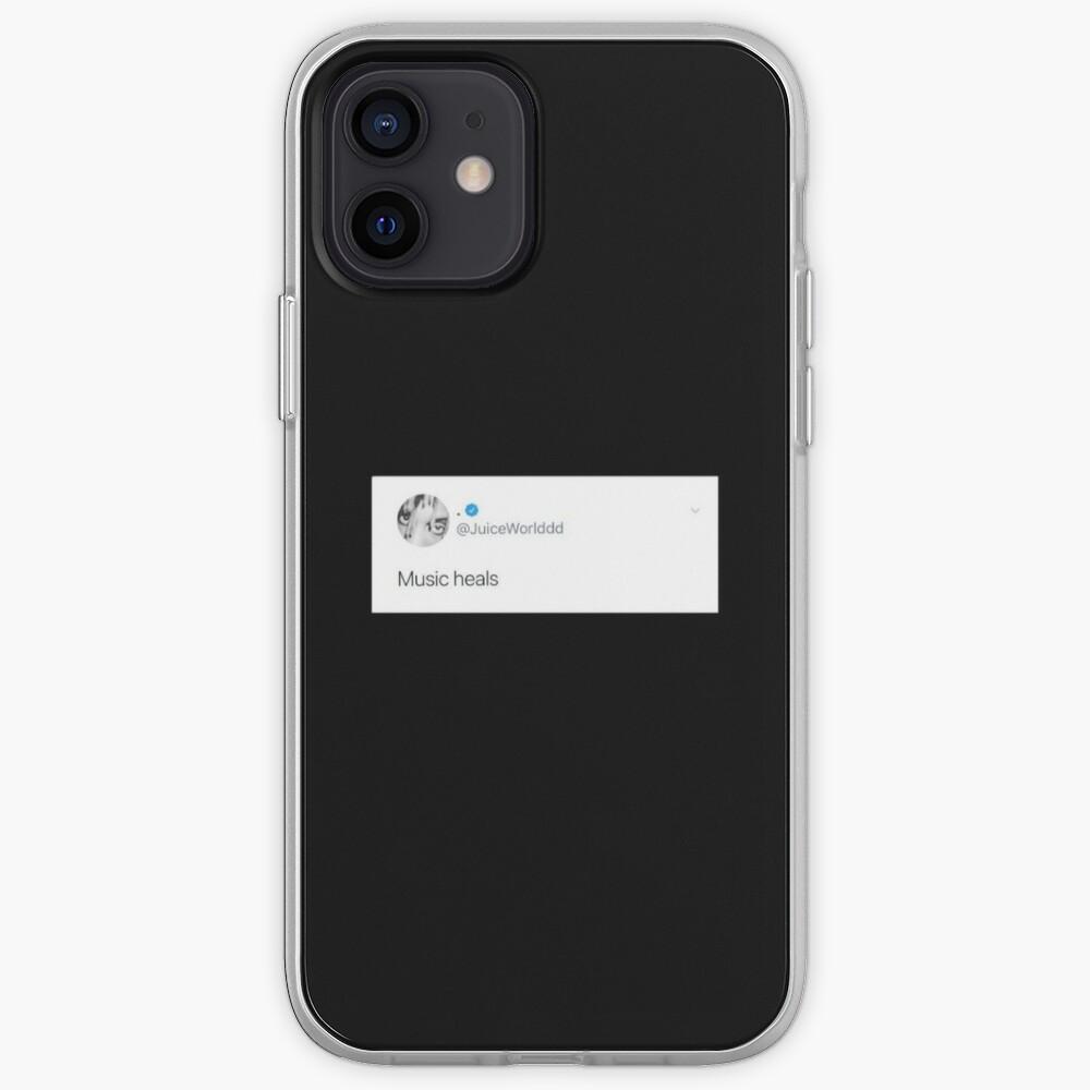 Juice wrld tweet, music heals iPhone Case & Cover
